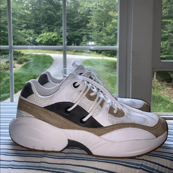 Hm White Tan Grey Chunky Dad Shoes